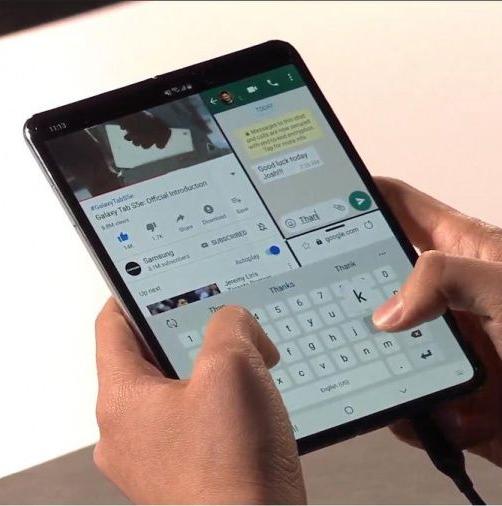 L'écran pliable du GSM de Samsung serait fragile