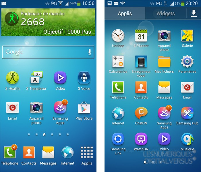 Samsung galaxy s4 les nouvelles fonctionnalit s la loupe for Fond ecran tablette samsung