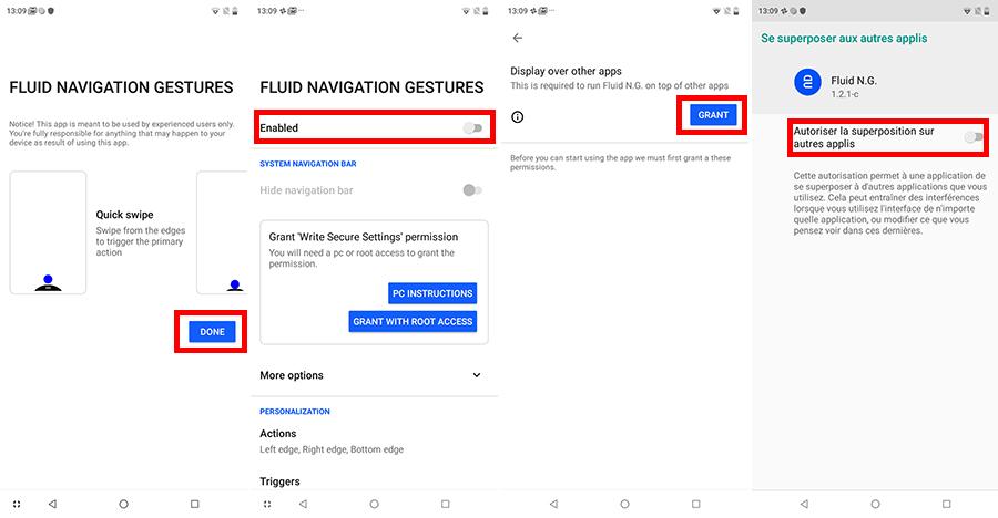 """Utiliser les gestes de navigation """"façon iPhone"""" sur Android"""