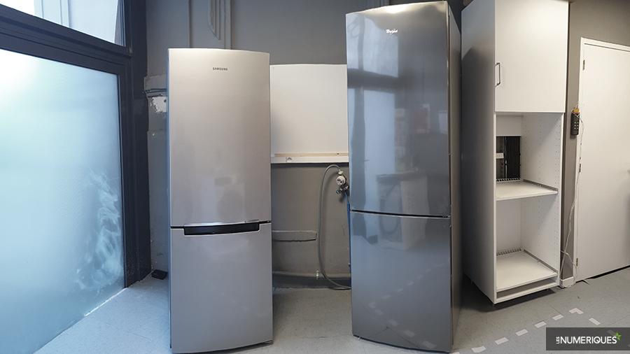 Duel de réfrigérateurs combinés : Samsung RB30J3000SA vs Whirlpool WTNF9IX