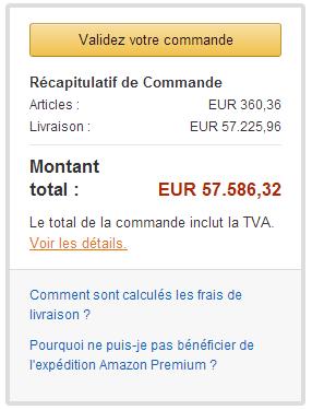 6cf17fca1da03 Un bug insolite : 57 226 € de frais de port chez Amazon - Les Numériques