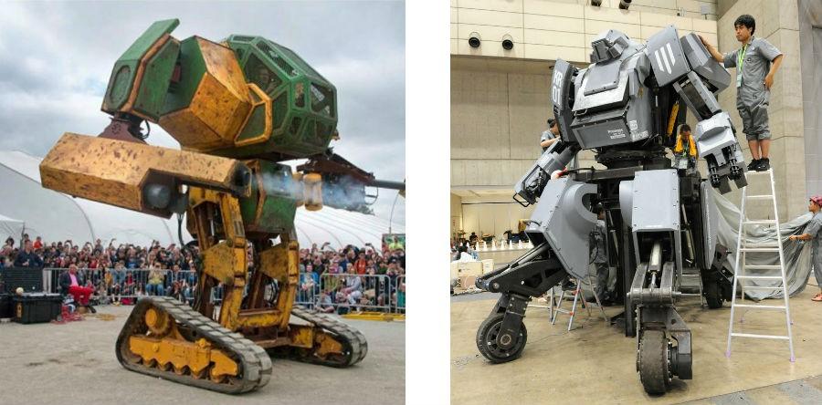 Combat Japonais bientôt un combat de robots géants, comme dans les films - les