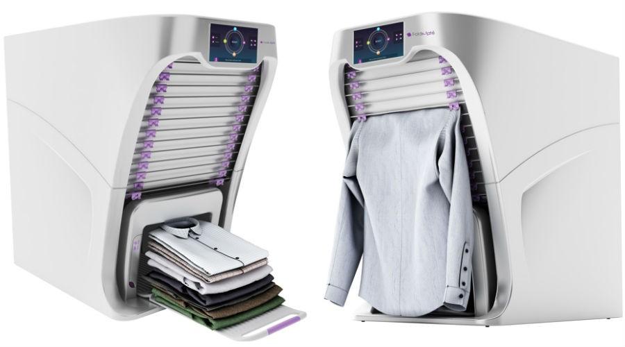 Foldimate une machine qui plie le linge toute seule - Table a repasser qui repasse toute seule ...