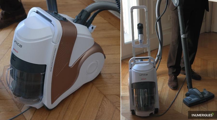 polti lance unico 3 nouvel aspirateur sans sac et nettoyeur vapeur. Black Bedroom Furniture Sets. Home Design Ideas