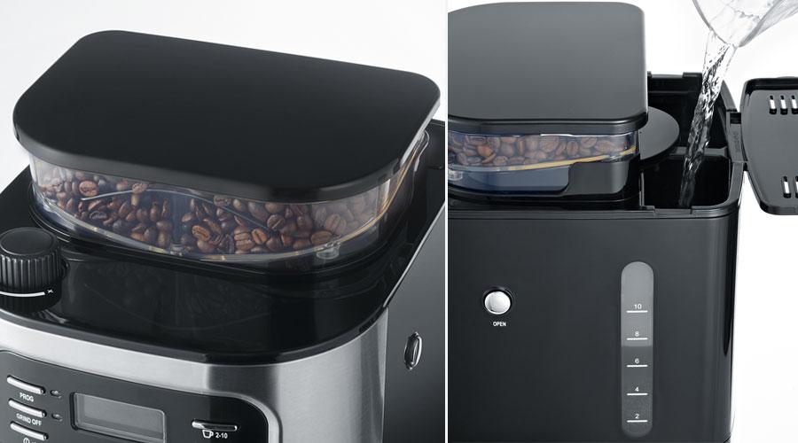 severin ka 4810 une cafeti re filtre avec broyeur int gr les num riques. Black Bedroom Furniture Sets. Home Design Ideas