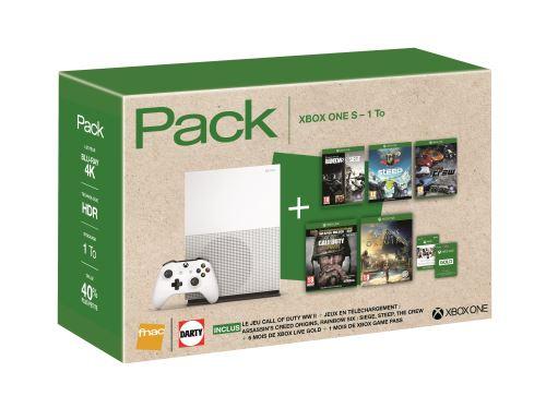 bon plan xbox one s 1 to 5 jeux 6 mois de xbox live 299. Black Bedroom Furniture Sets. Home Design Ideas