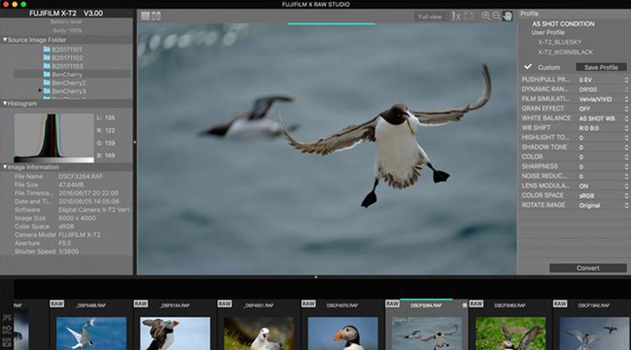 Fujifilm présente son logiciel gratuit de conversion X-RAW Studio