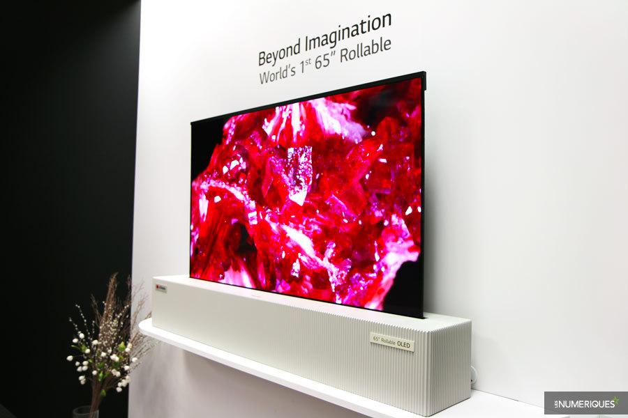 ces 2018 lg display d voile un concept de t l viseur enroulable les num riques. Black Bedroom Furniture Sets. Home Design Ideas