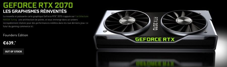 Nvidia GeForce RTX 2070 : la carte graphique disponible le 17 octobre