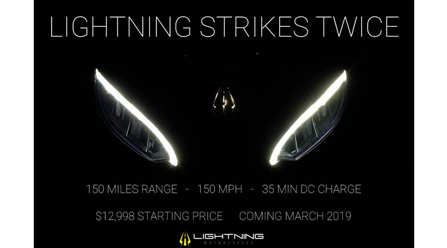 Moto électrique : Lightning Strike, 241 km, 241 km/h, 35 min de charge
