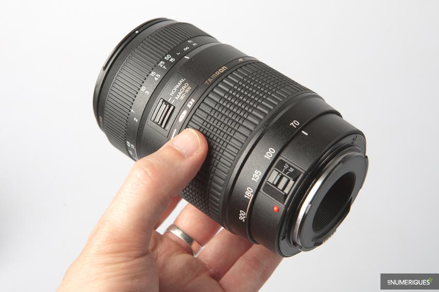 Le zoom 70-300 mm de Tamron à 80 € est arrivé dans notre laboratoire