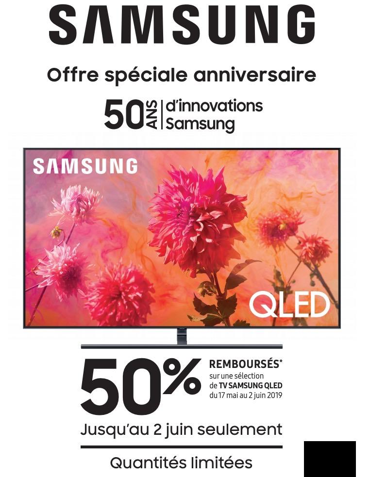Bon plan – 50 % de réduction sur les TV Qled 2018 jusqu'à 1 000 €