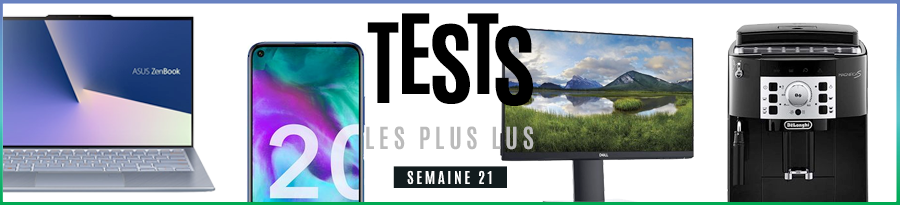 Top 10 des tests – Delonghi Magnifica S, Asus Zenbook S13 UX392F