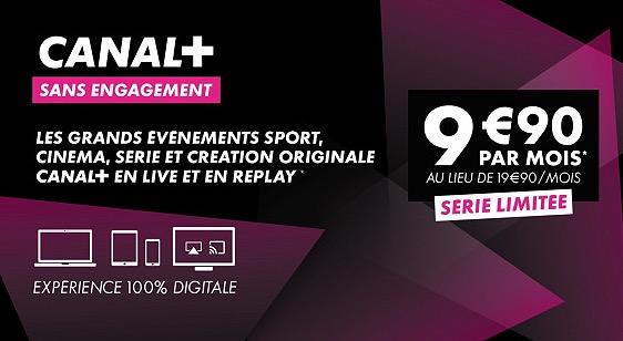 L'abonnement Canal+ 100 % Digital à 9,90 €/mois à vie