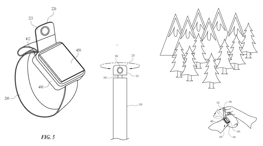 Apple pourrait intégrer une caméra dans le bracelet de sa Watch