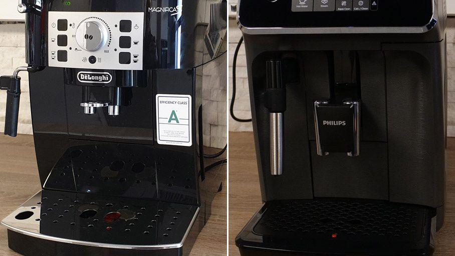 Dossier : Duel de cafetières avec broyeur – Delonghi Magnifica S vs Philips Series EP2224/10