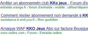 Kko jeux google