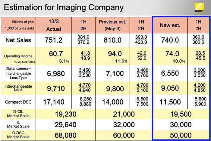 Nikon imaging estimations