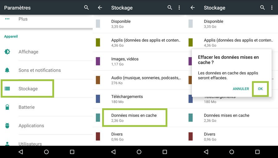 Stockage android 4 900