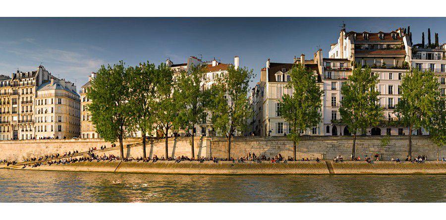 Parisiens au soleil quai de seine paris 900px