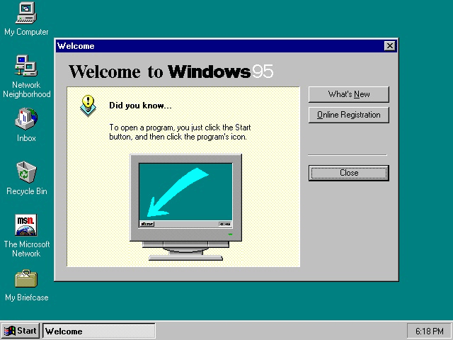 Windows 95 demarrage