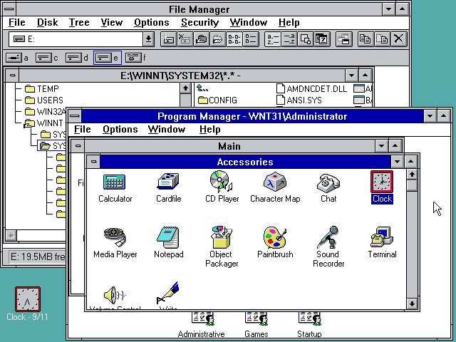 Windows NT 3 1