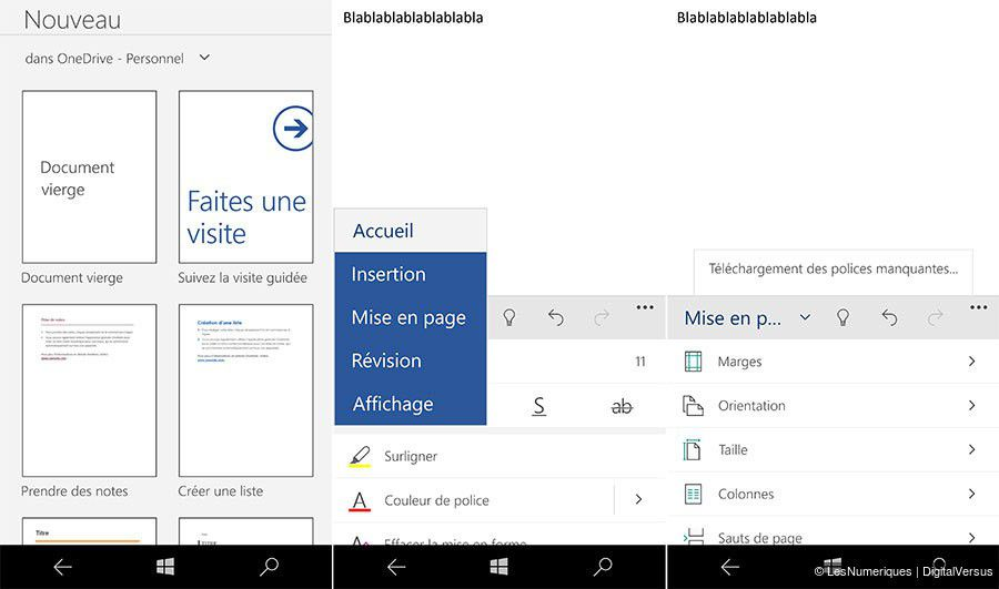 Dossier microsoft windows 10 mobile nouveautes office 1
