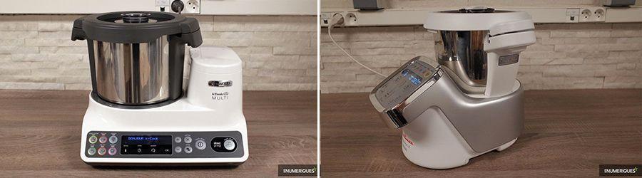 Comparaison robots-cuiseurs Kenwood kCook Multi vs Moulinex Cuisine Companion XL, design
