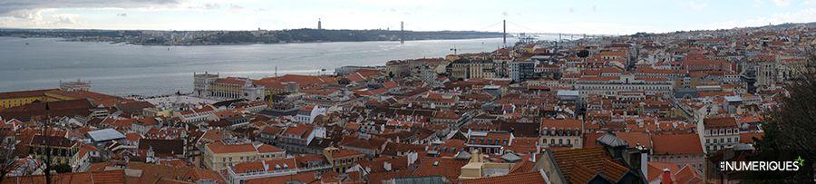 Comment faire une photo panoramique avec le mode Panoramique de son boîtier, exemple de paysage urbain redimensionné. Photo Pascale Brites/Les Numériques