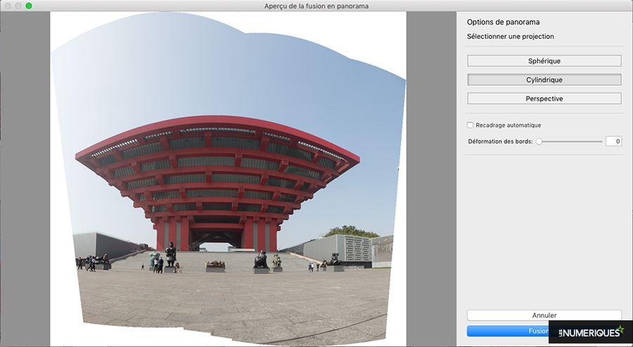 Comment réaliser une photo panoramique avec le logiciel Lightroom : projection cylindrique. Photo Pascale Brites / Les Numériques