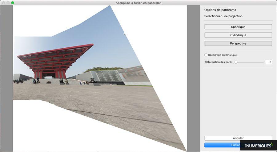 Comment réaliser une photo panoramique avec le logiciel Lightroom : projection perspective. Photo Pascale Brites / Les Numériques