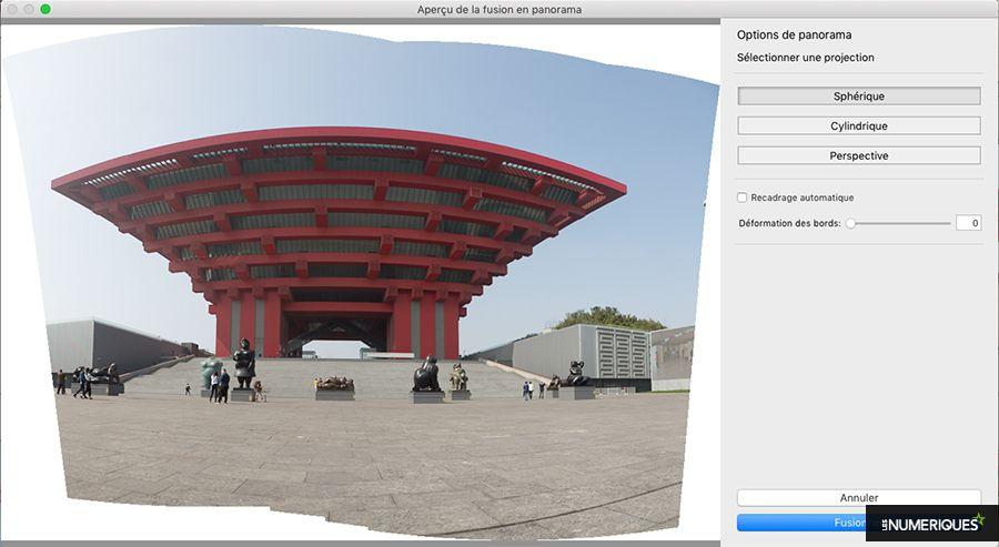 Comment réaliser une photo panoramique avec le logiciel Lightroom : projection sphérique. Photo Pascale Brites / Les Numériques