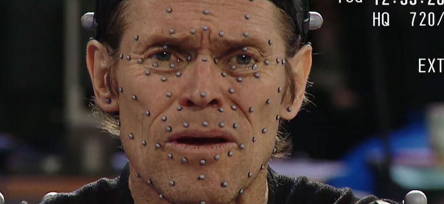 Motion-capture faciale de Willem Dafoe pour Beyond: Two Souls. Extrait d'une vidéo Quantic Dream.