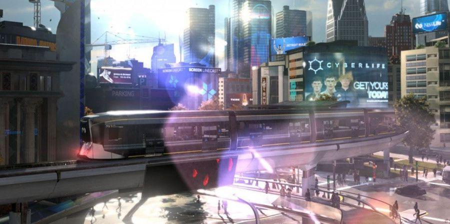 Détroit en 2038 vu par Quantic Dream. Image extraite du jeu Detroit: Become Human