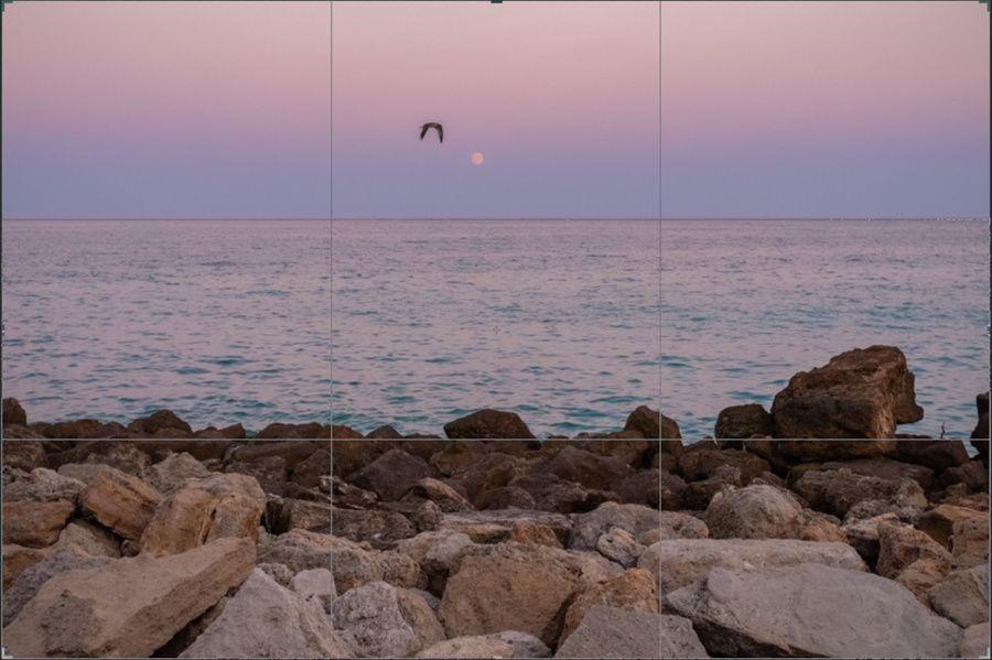Tutoriel photo à la plage : quadrillage de visée