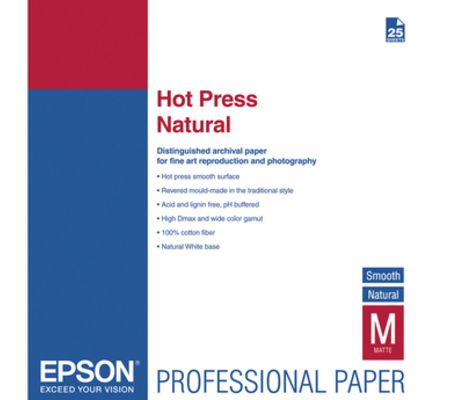 Epson Hot Press Natural et Bright
