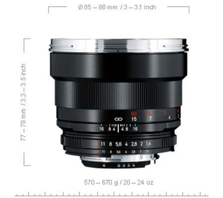 Zeiss Planar 85 mm f/1,4 ZE