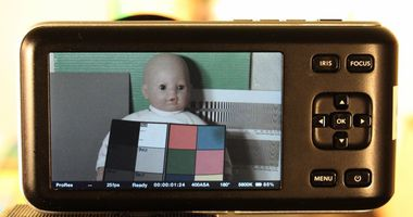 Blackmagic Pocket Cinema Camera test review interface
