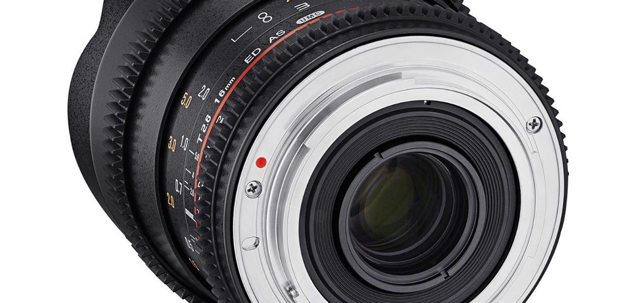 Samyang enrichit sa gamme vidéo avec un 16 mm T2,6