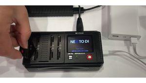 NextoDI NCB-20 : décharger 8 cartes SD en même temps