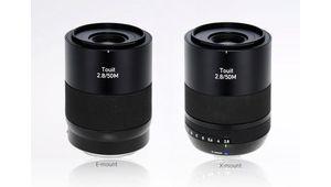 Nouveau Zeiss Touit 50 mm f/2,8 Macro, pour hybrides Sony et Fujifilm