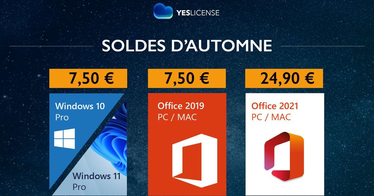 Office 2021 et Windows 11 à moins de 8€, on vous défie de trouver moins cher ailleurs !