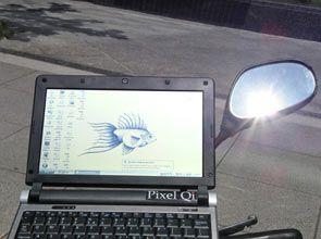 Pixel Qi Outside Sun