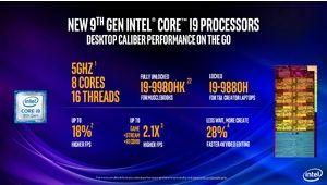 Les processeurs Intel Core de 9e génération débarquent sur les laptops