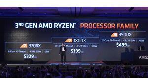 Computex 2019 – AMD annonce les Ryzen 73700X, 3800X et Ryzen 93900X