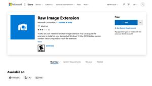 L'Explorateur de Windows10 autorise l'affichage des fichiers RAW