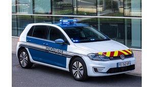 Volkswagen e-Golf: la gendarmerie de l'Aisne teste la Golf électrique