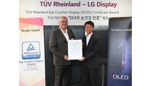 LG Display reçoit la certification TÜV pour le confort des yeux