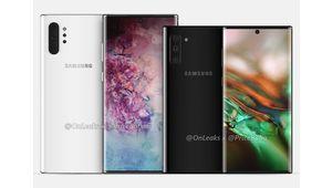 Les Samsung Galaxy Note 10 se découvrent