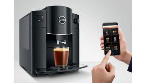 Chez Jura, la connectivité des cafetières avec broyeur, c'est au choix
